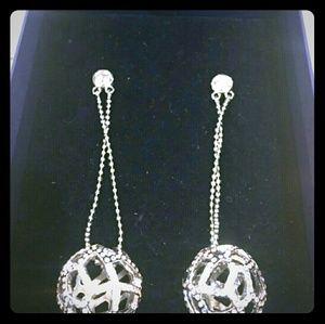 Swarovski Crystal Ball Drop Earrings New